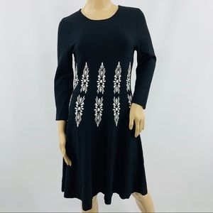 Eliza J Thick Heavy Long Sleeve Sweater Dress